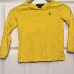 Ralph Lauren Shirts & Tops - Ralph Lauren long sleeve yellow girl size 5